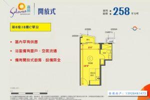 香港新楼盘嘉熙户图(一房)