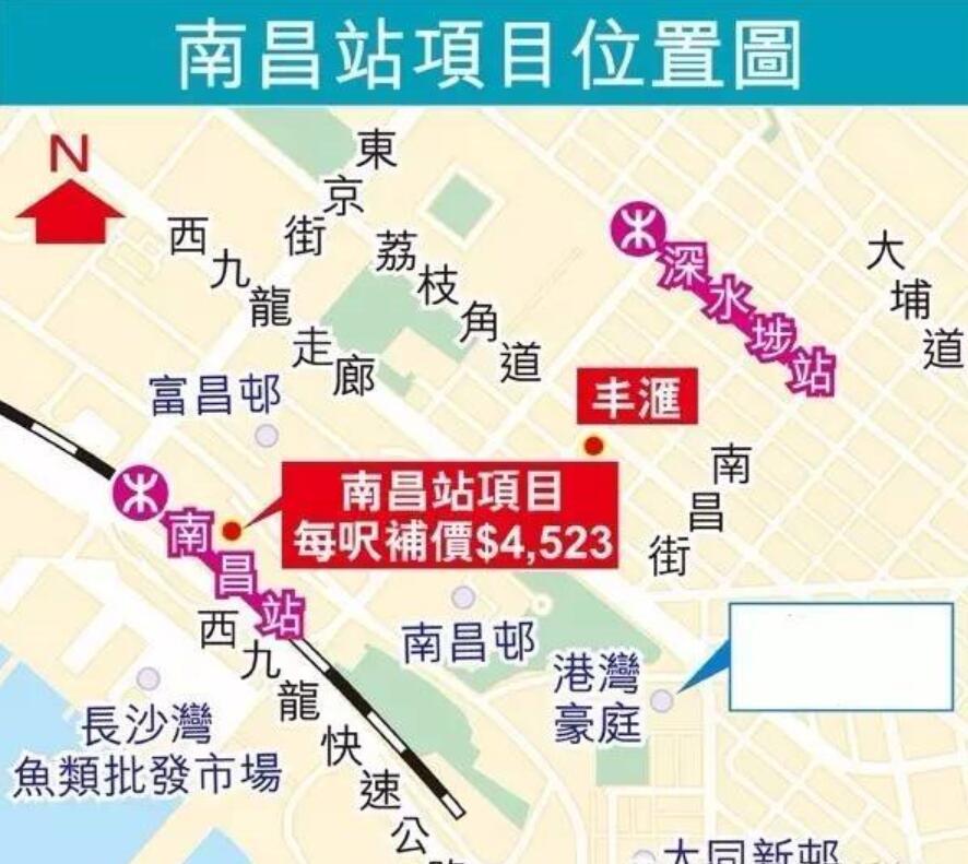 香港新楼盘汇玺位于香港九龙南昌站