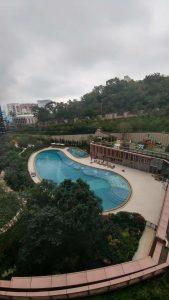 香港新楼盘皓畋小区花园泳池(1)