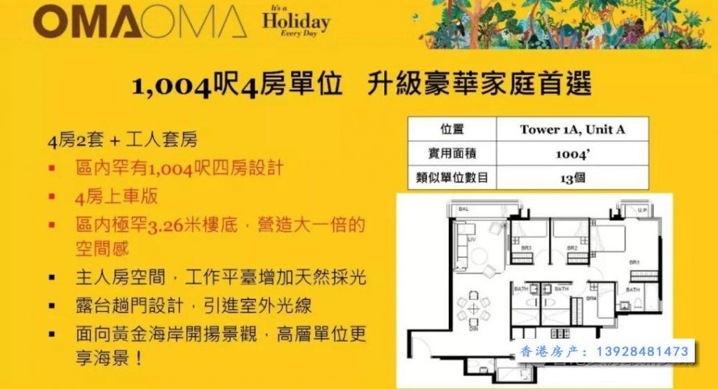 香港oma oma四房户型图 (1)