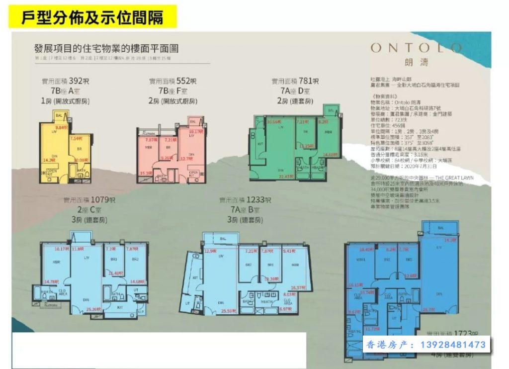 香港朗涛户型图