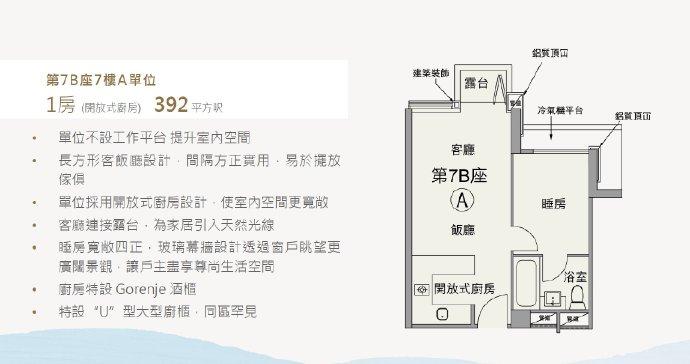香港朗涛户型图1