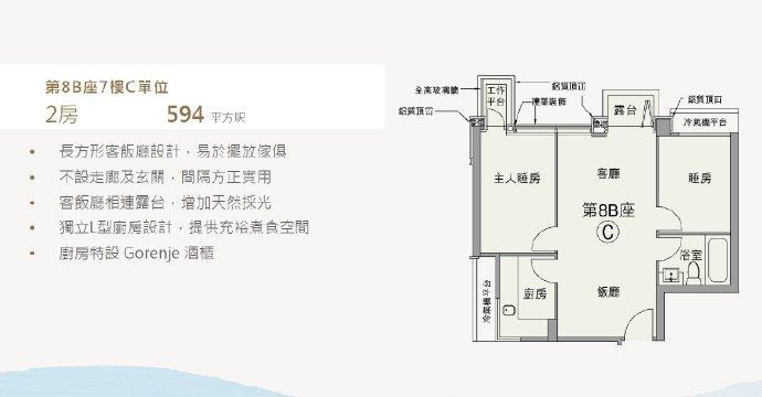 香港朗涛户型图3