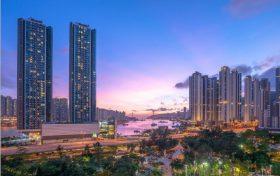 香港映日湾景观可望荃湾公园及海景