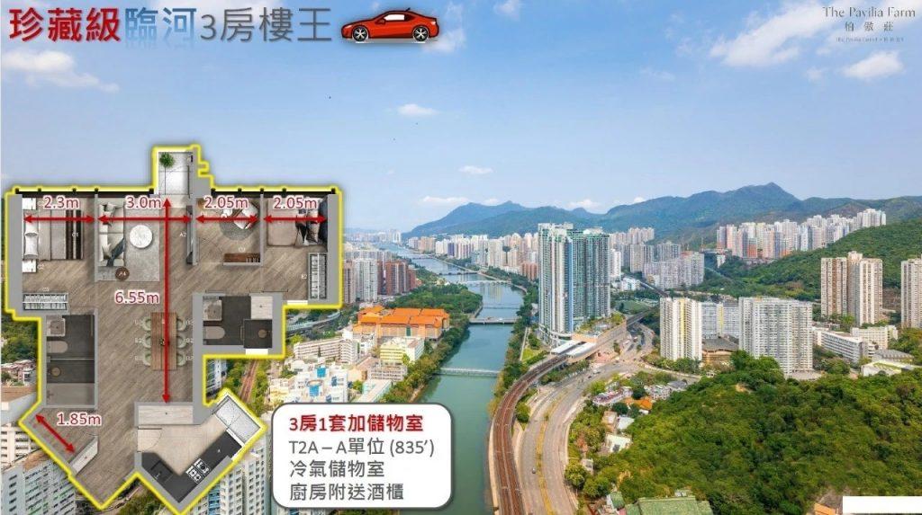 香港柏傲庄景观和户型图