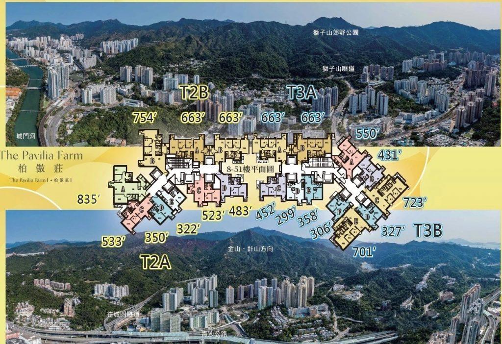 香港柏傲庄平面图及景观