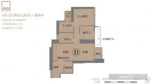 香港LP10户型图(2房套房)
