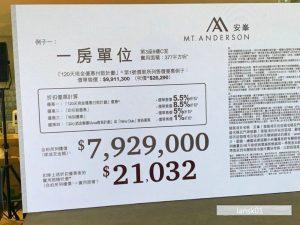 香港新楼盘安峰价格 (2)