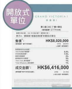 香港维港汇开放示单位价格