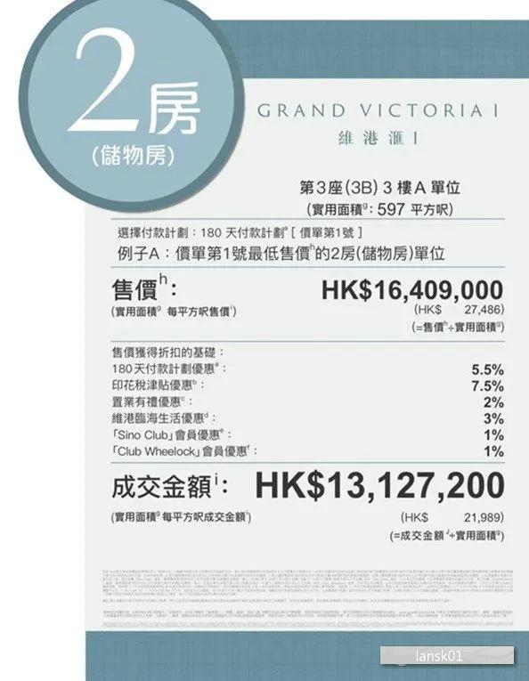 香港维港汇2房价格
