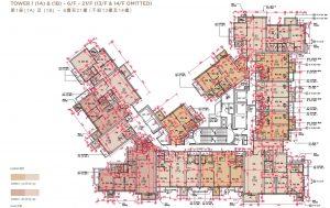 香港晋环户型图(第一座中低层)