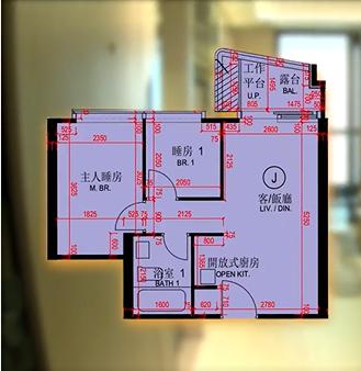 香港维港一号户型图