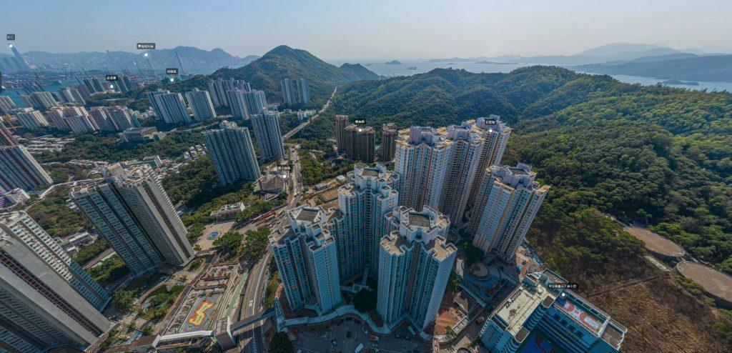 香港荟蓝A单位向北面景观: